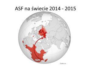 ASF na świecie Źródło: OIE